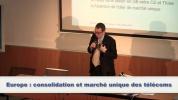Sébastien Crozier - Europe : consolidation et marché unique des télécoms